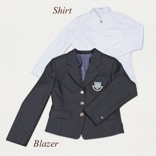 制服: ブレザー、シャツ